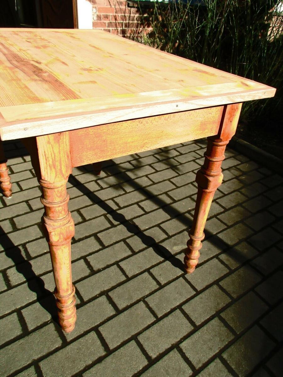 Tisch Esstisch Jugendstil um 1900 Weichholz Nr.17 2