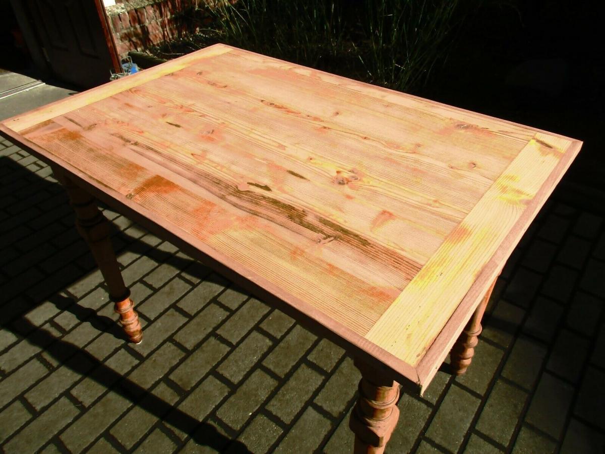 Tisch Esstisch Jugendstil um 1900 Weichholz Nr.17 3