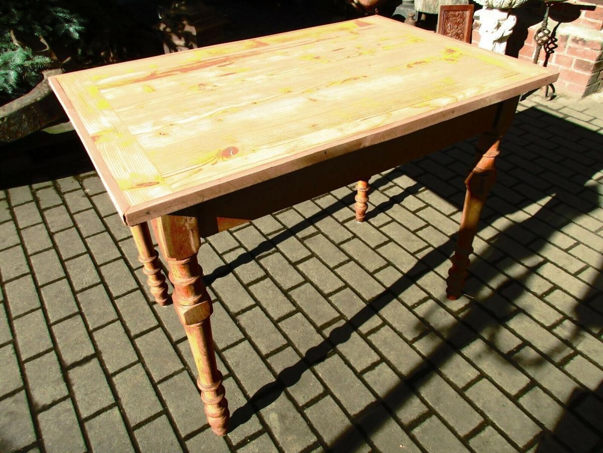 Tisch Esstisch Jugendstil um 1900 Weichholz Nr.17 4