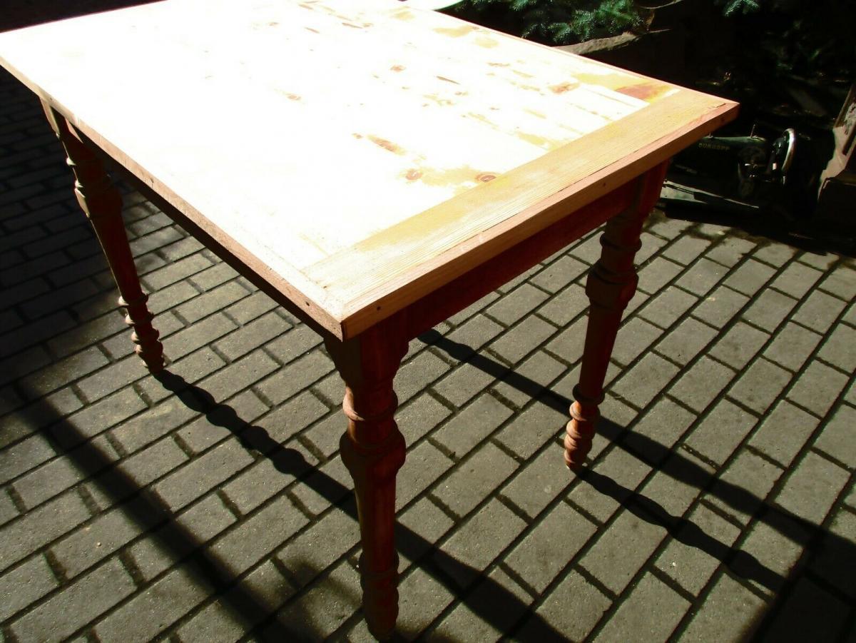 Tisch Esstisch Jugendstil um 1900 Weichholz Nr.17 5