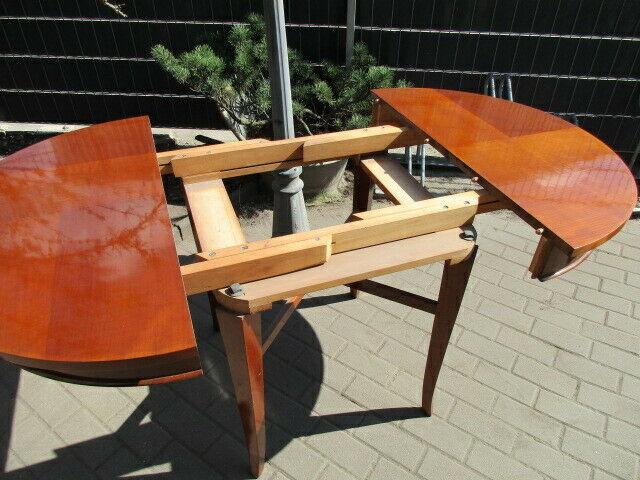 Runder Tisch zum Ausziehen Jugendstil um 1900 Nussbaum 10