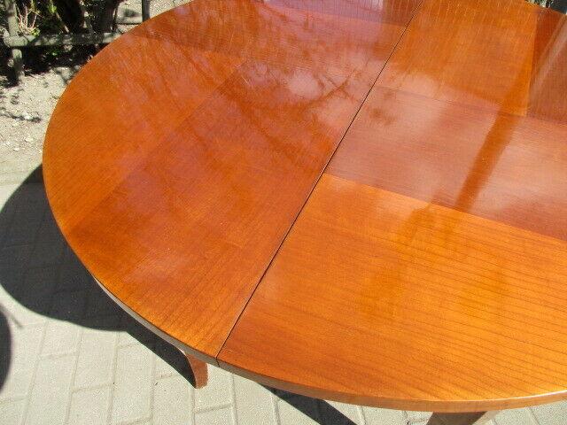 Runder Tisch zum Ausziehen Jugendstil um 1900 Nussbaum 4