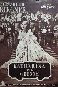 altes Filmprogamm - IFB  376-  KATHARINA DIE GROSSE