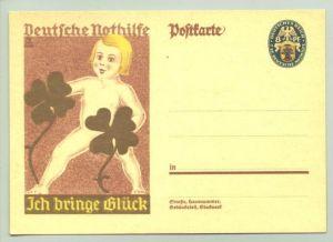 (0360150)  Postkarte mit eingedrucktem Wert. Deutsche Nothilfe, um 1933 ?