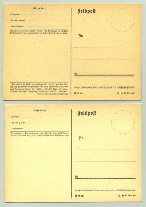 (1025427)  Vier diverse Postkarten um 1943. Siehe bitte Beschreibung