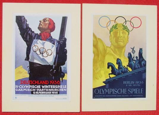 (1032838) 3.-Reich-Zeit. 2 x WHW Postkarten mit montierten Bildern. Siehe bitte Beschreibung