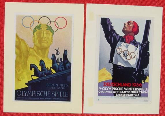 (1032840) 3.-Reich-Zeit. 2 x WHW Postkarten mit montierten Bildern. Siehe bitte Beschreibung