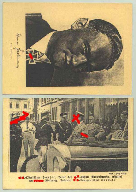 (1038941) Ritterkreuzträger u. Militär auf 2 Feldpostkarten der NS-Zeit. Siehe bitte Beschreibung