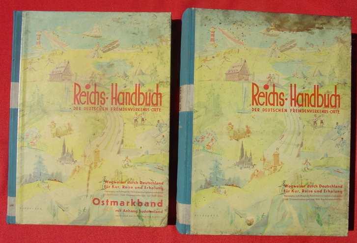 """2 Reichs-Handbücher 1938-1939 : """"Reichs-Handbuch der deutschen Fremdenverkehrsorte"""" und folg. ...."""
