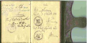 (2001045) Großherzogtum Baden. Alter Reisepass vom Juli 1840. 0