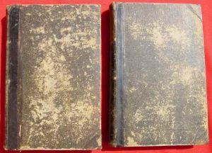 """(2002607) """"Badische Biographien"""". Herausgeber Dr. Friedrich von Weech. Zwei Bücher : Band I  (A - K, 488 Seiten) und Band II. (L - Z, 574 Seiten)"""