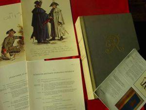 (1011246) Uniformbilder v. A. Menzel auf 72 Tafeln. Eine bibliophile Kostbarkeit in großer Kassette