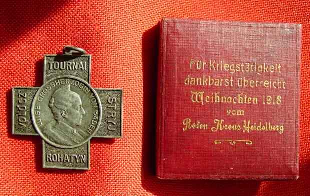 (1016268) Rotes Kreuz Heidelberg 1918. Original-Orden im Original-Etui