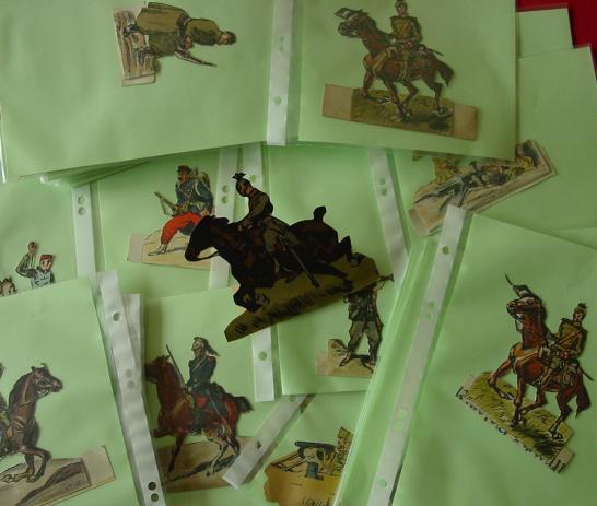(2002704) Antik-Spielzeug, um 1. Weltkrieg. 117 Aufstell-Soldatenfiguren
