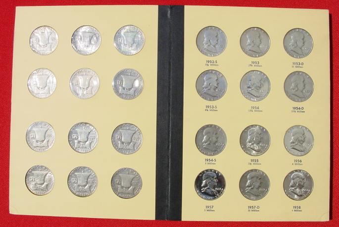 1019548 Usa Münzen Franklin Head Half Dollars Sammlung 1948 63