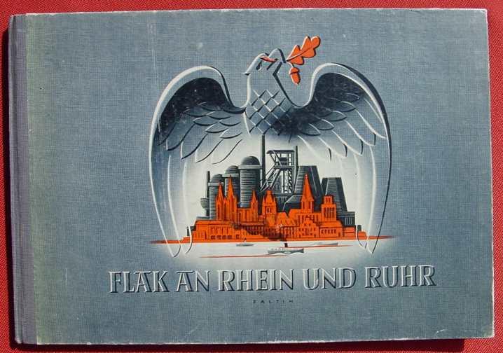 """(1013597) Bildband """"Flak an Rhein u. Ruhr"""" 1942. Drittes Reich. Militaria. Weltkrieg II. Siehe bitte Beschreibung u. Bilder ..."""