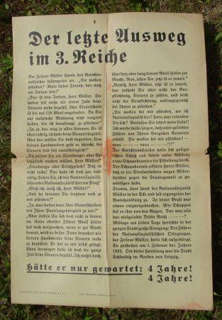 (2001142) Original Propaganda-Plakat. NS-Zeit. Drittes Reich. Format ca. 32 x 48 cm. Siehe bitte Beschreibung u. Bild