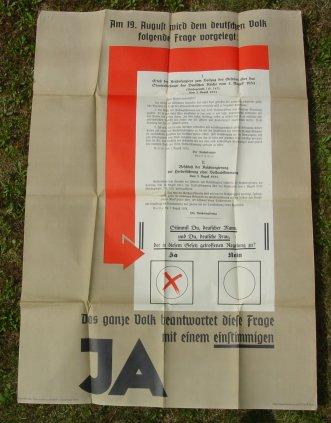 (2001146) Originalplakat ! Großes NS-Plakat 1934. Gaupropagandaleitung der NSDAP Baden. Siehe bitte Beschreibung u. Bild