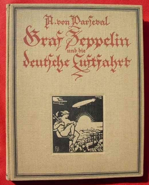 (2002539) Buch Graf Zeppelin / Luftfahrt, 148 Seiten, um 1925 ? Klemm-Verlag, Berlin. Siehe bitte Beschreibung u. Bilder