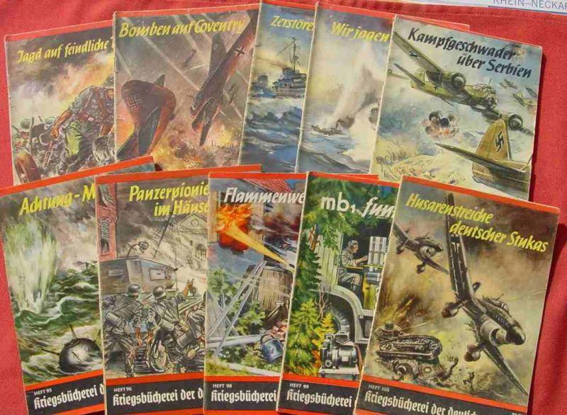 """(1047366)  """"Kriegsbücherei der Deutschen Jugend"""". Sammlung von 132 verschiedenen Original-Heften. Siehe bitte Beschreibung"""