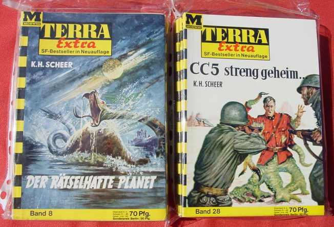 (1038873) Terra Extra. Science Fiction Hefte-Sammlung. 71 Hefte. Moewig-Verlag 1962-68. Siehe bitte Bilder u. Beschreibung