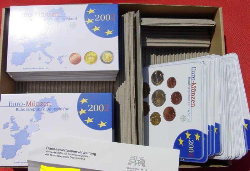 1038884 30 X Kursmünzen Sätze Deutschland 2002 Spiegelglanz Pp