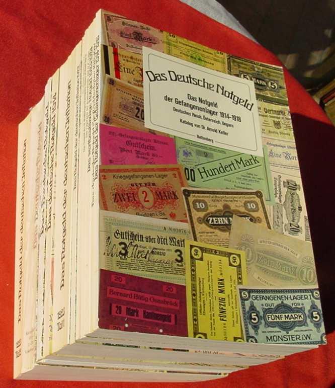 (1047404) Partie von 13 versch. antiquarischen Geldscheine-Kataloge von Dr. Arnold Keller. Siehe bitte Bilder und Beschreibung.