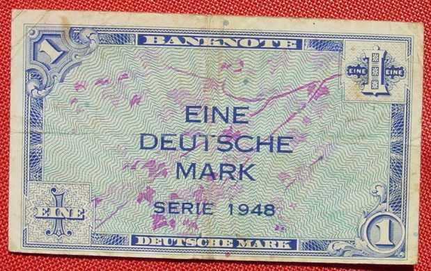 (R80225) Deutschland. Eine Deutsche Mark. Serie 1948. Original. Banknote. Geldschein. Kopfgeld.