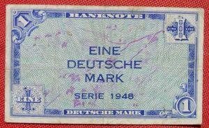 (R80226) Deutschland. Eine Deutsche Mark. Serie 1948. Original. Banknote. Geldschein. Kopfgeld.