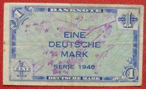 (R80227) Deutschland. Eine Deutsche Mark. Serie 1948. Original. Banknote. Geldschein. Kopfgeld.