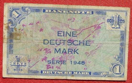 (R80229) Deutschland. Eine Deutsche Mark. Serie 1948. Original. Banknote. Geldschein. Kopfgeld.