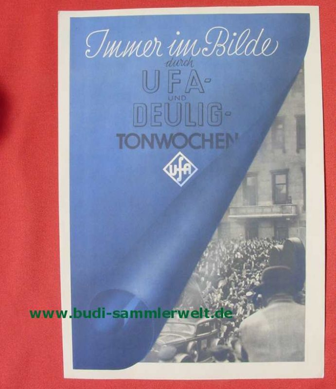(2001691) Original Film-Werbeplakat \'UFA- und DEULIG Tonwochen\'. Siehe bitte Beschreibung ...