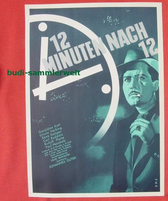 (2001692) Original Filmplakat \'12 Minuten nach 12\'. Ufa-Film 1939-1940, aus Ufa-Programm-Mappe, Scherl-Verlag, Berlin. Siehe bitte Beschreibung ...