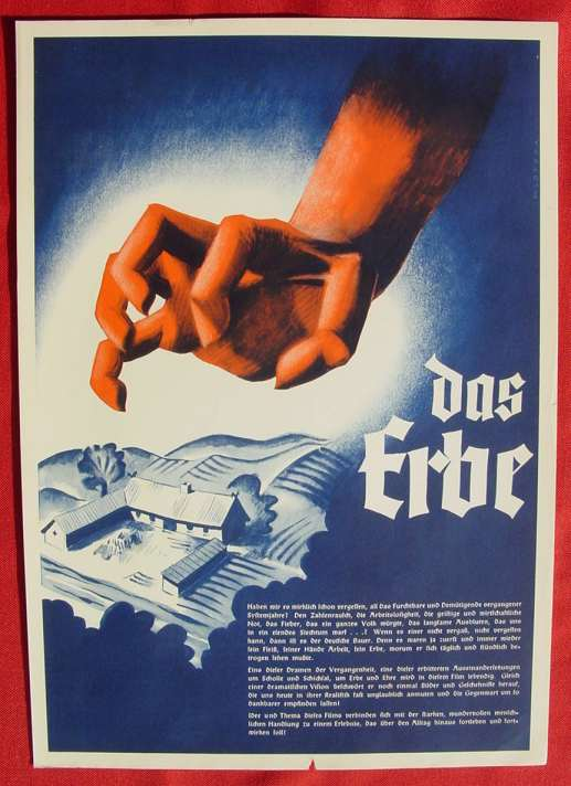 (2001693) Original Filmplakat \'Das Erbe\'. Ufa-Film 1939-1940, aus Ufa-Programm-Mappe, Scherl-Verlag, Berlin. Siehe bitte Beschreibung ...