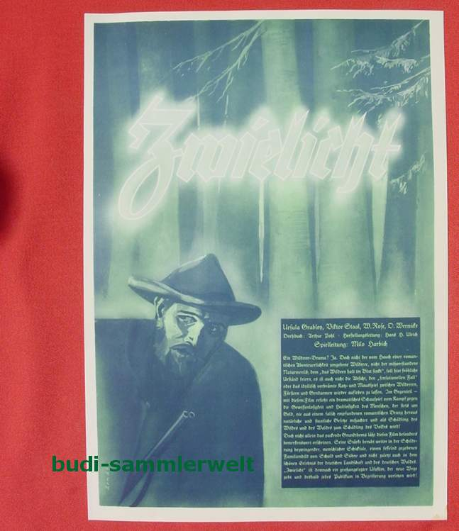 (2001695) Original Filmplakat \'Zwielicht\'. Ufa-Film 1939-1940, aus Ufa-Programm-Mappe, Scherl-Verlag, Berlin. Siehe bitte Beschreibung ...
