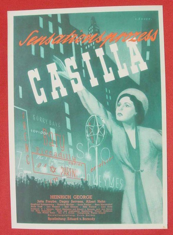 (2001696) Original Filmplakat \'Sensationsprozess Casilla\'. Ufa-Film 1939-1940, aus Ufa-Programm-Mappe, Scherl-Verlag, Berlin. Siehe bitte Beschreibung ...