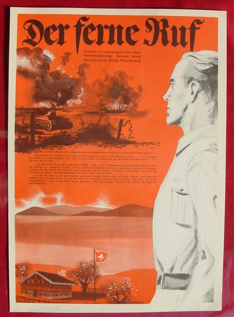 (2001699) Original Filmplakat \'Der ferne Ruf\'. Ufa-Film 1939-1940, aus Ufa-Programm-Mappe, Scherl-Verlag, Berlin. Siehe bitte Beschreibung ...