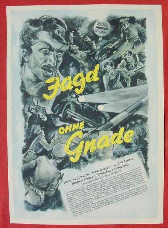 (2001700) Original Filmplakat \'Jagd ohne Gnade\'. Ufa-Film 1939-1940, aus Ufa-Programm-Mappe, Scherl-Verlag, Berlin. Siehe bitte Beschreibung ...