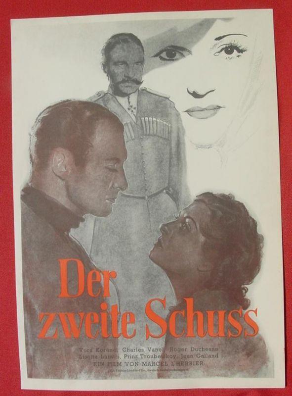 (2001701) Original Filmplakat \'Der zweite Schuss\'. Ufa-Film 1939-1940, aus Ufa-Programm-Mappe, Scherl-Verlag, Berlin. Siehe bitte Beschreibung ...