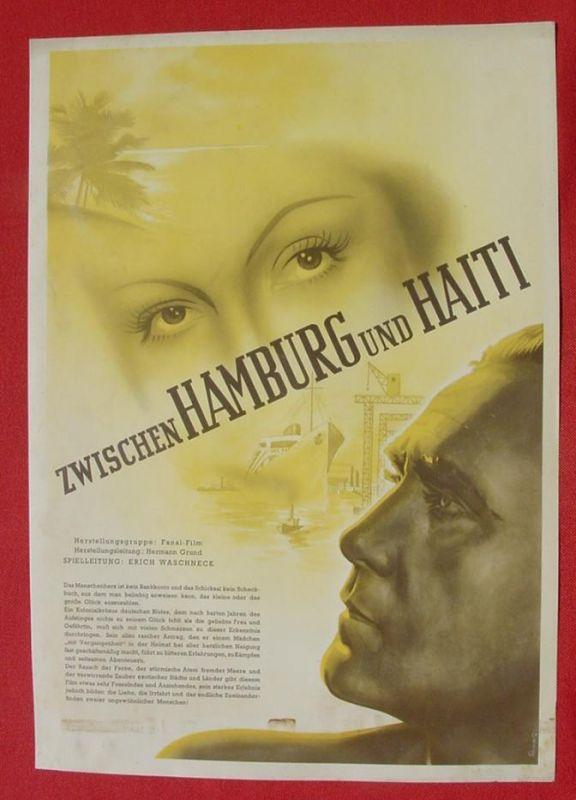 (2001702) Original Filmplakat \'Zwischen Hamburg und Haiti\'. Ufa-Film 1939-1940, aus Ufa-Programm-Mappe, Scherl-Verlag, Berlin. Siehe bitte Beschreibung ...