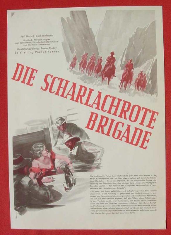 (2001703) Original Filmplakat \'Die Scharlachrote Brigade\'. Ufa-Film 1939-1940, aus Ufa-Programm-Mappe, Scherl-Verlag, Berlin. Siehe bitte Beschreibung ...