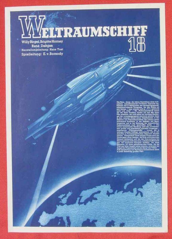 (2001704) Original Filmplakat \'Weltraumschiff 18\'. Ufa-Film 1939-1940, aus Ufa-Programm-Mappe, Scherl-Verlag, Berlin. Siehe bitte Beschreibung ...