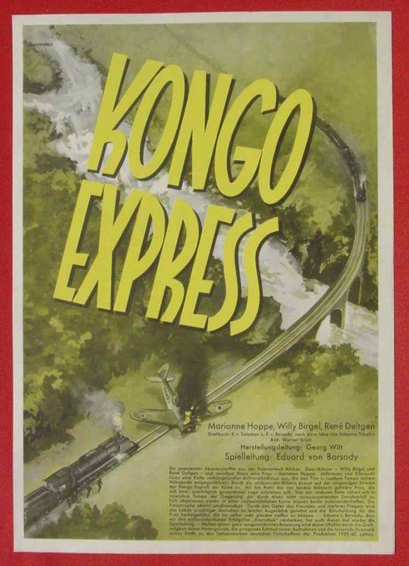 (2001705) Original Filmplakat \'Kongo Express\'. Ufa-Film 1939-1940, aus Ufa-Programm-Mappe, Scherl-Verlag, Berlin. Siehe bitte Beschreibung ...