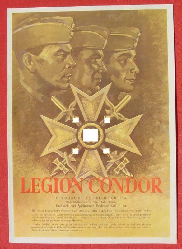 (2001706) Original Filmplakat \'Legion Condor\'. Ufa-Film 1939-1940, aus Ufa-Programm-Mappe, Scherl-Verlag, Berlin. Siehe bitte Beschreibung ...
