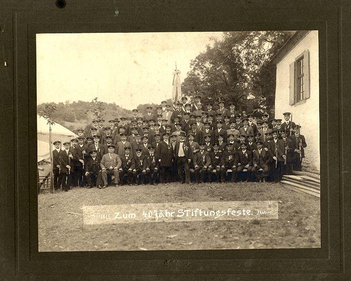 Rheinland Pfalz Krieger Verein Meisenheim Gruppenbild Foto um 1911
