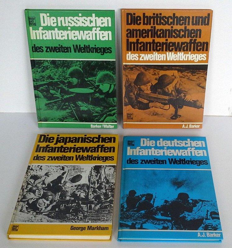 Weltkrieg Militär Waffen Infanterie Deutschland Japan Russland Amerika 4 Bände