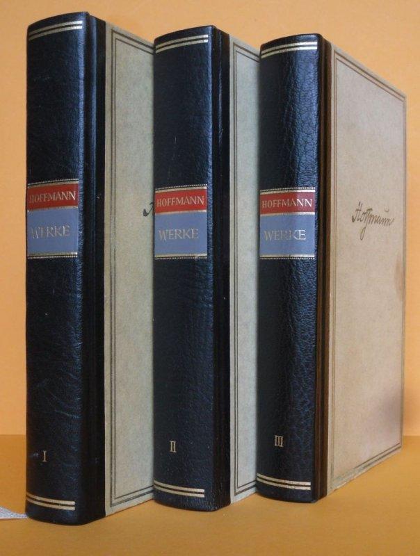 Deutsche Literatur Romantik E.T.A. Hoffmann Werke  3 Bände Halbleder komplett