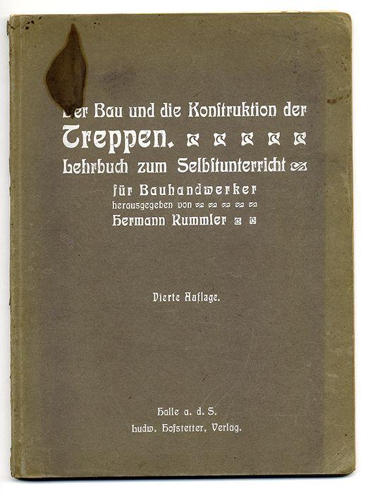 Deutschland Bau Handwerk Zimmermann Treppenbau Konstruktion Tafelband 1904