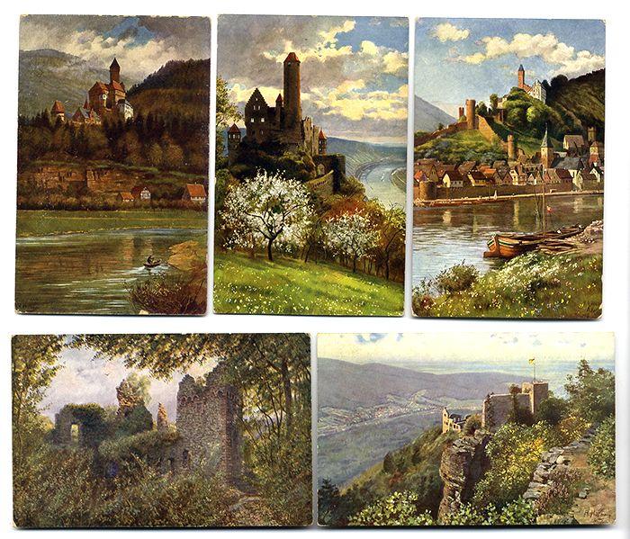 Künstler Heidelberg baden neckar heidelberg odenwald burgen 12 künstler postkarten