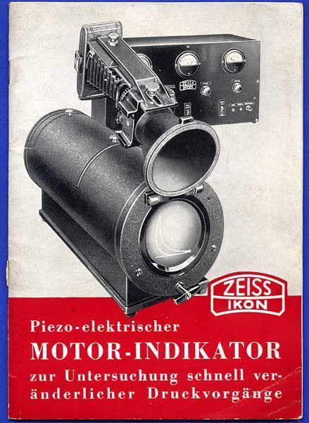 Zeiss Ikon Dresden Motor Indikator Kamera Forschung Technik Reklame Heft 1937